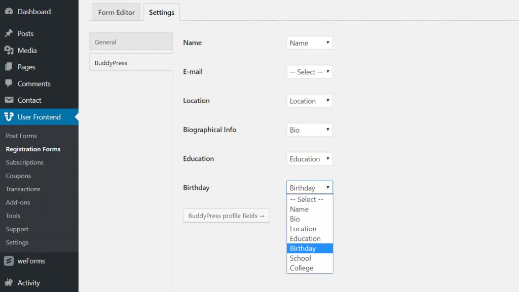 buddypress-profile-integration-wpuf-profile-fields