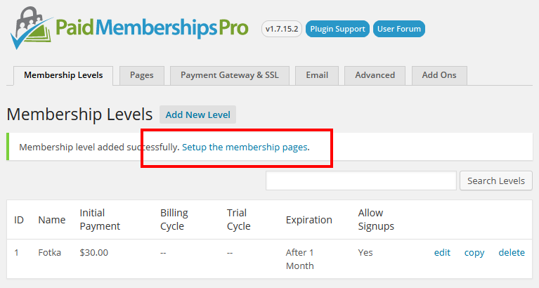 paid-membership-pro-setup-pages- WP User Frontend Premium Addons