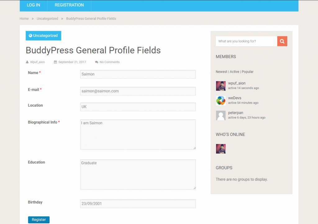 wpuf-registration-form-buddypress-profile-fields