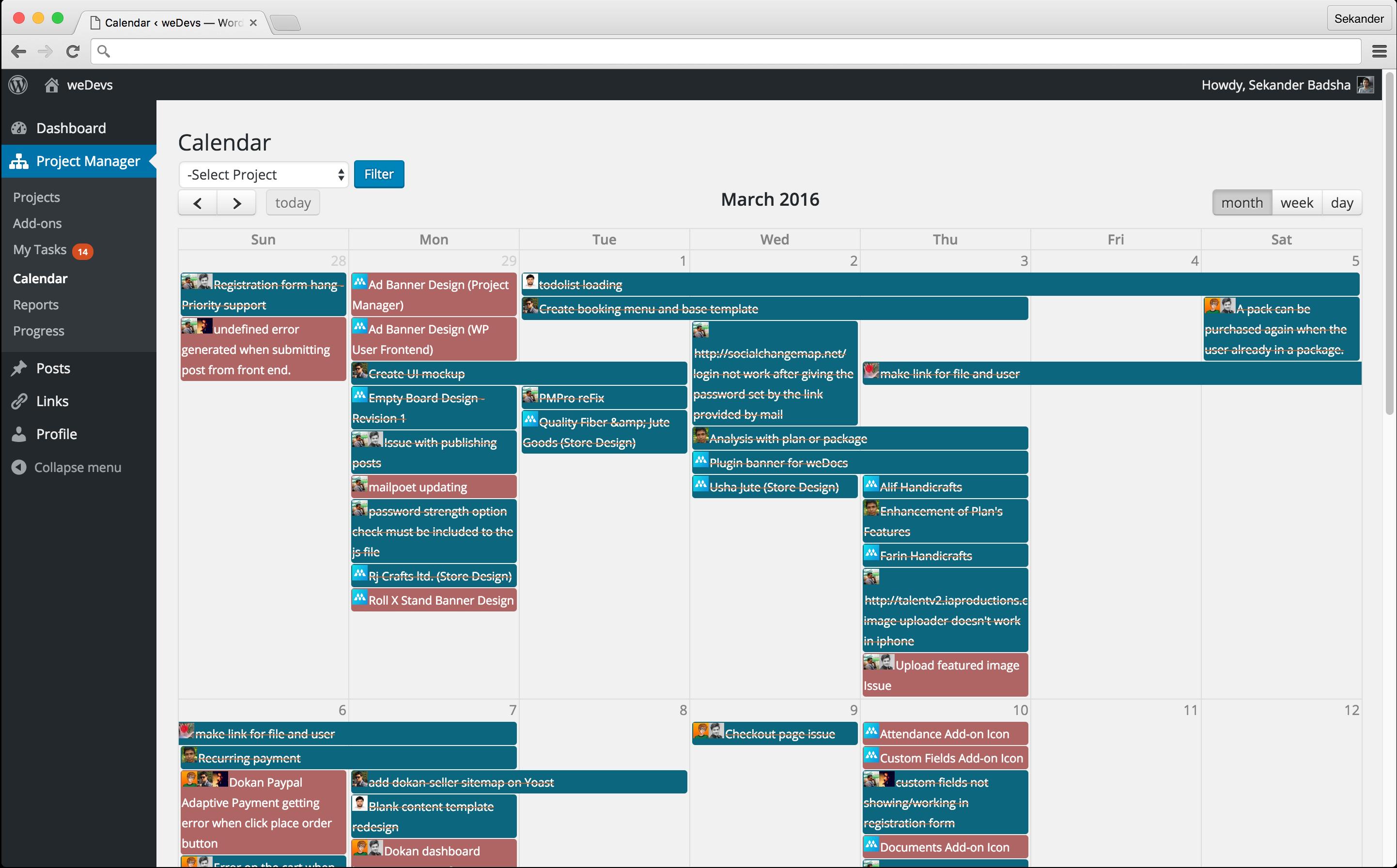 PM-calendar