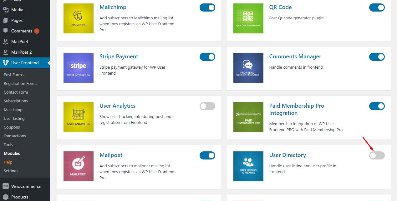 User Directory - weDevs