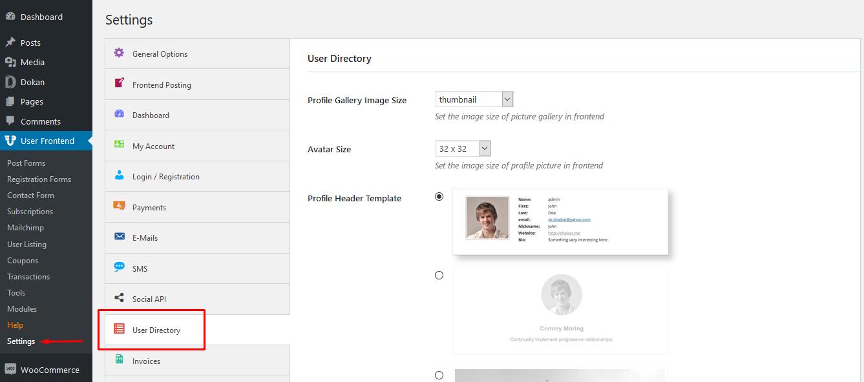 WordPress member directory