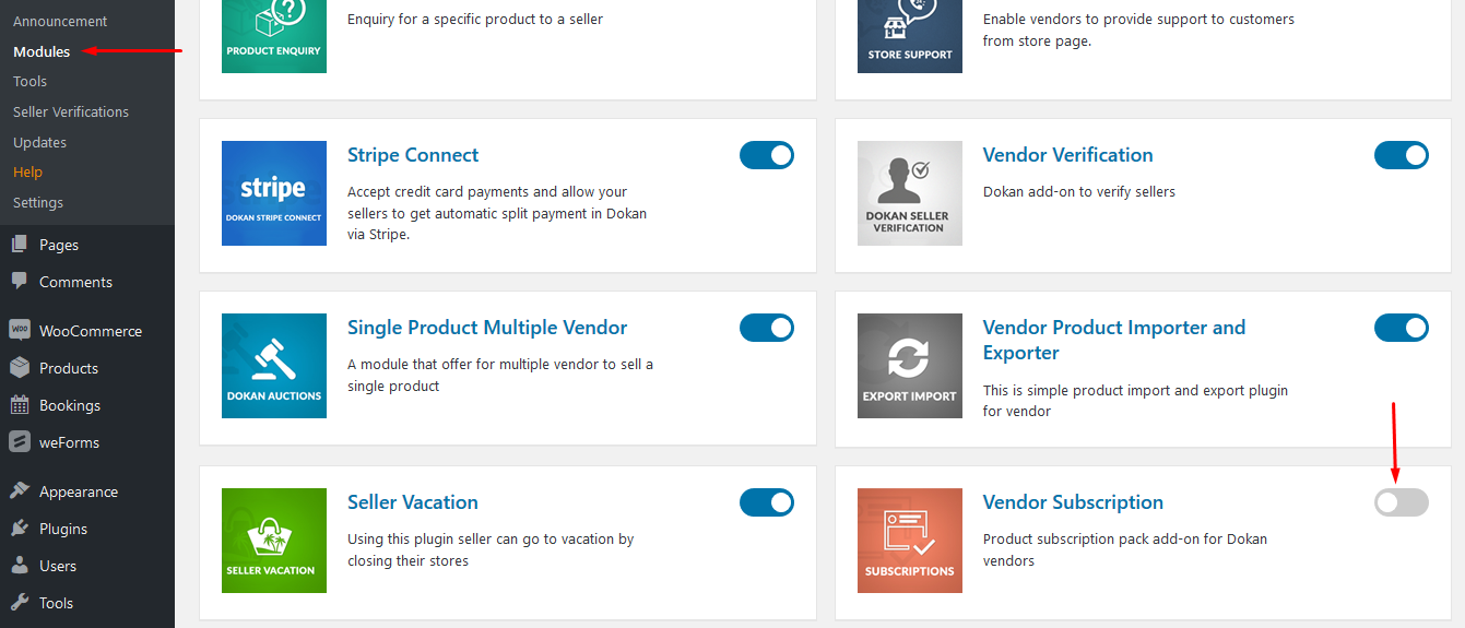 Manage Subscription Payments