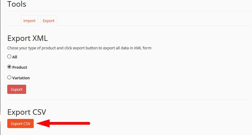 export xml