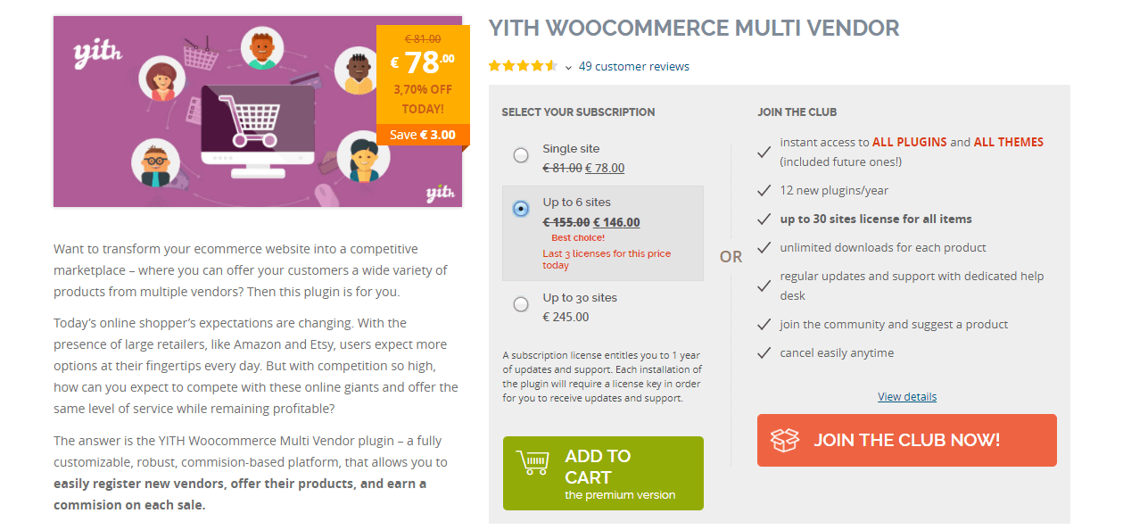 YITH WooCommerce multivendor