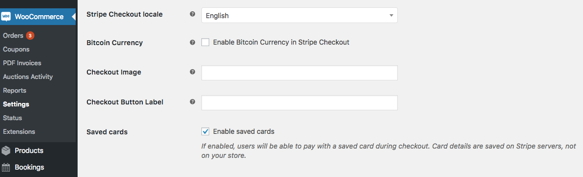 WooCommerce stripe payments