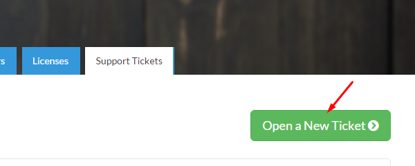 Open a New Ticket Button