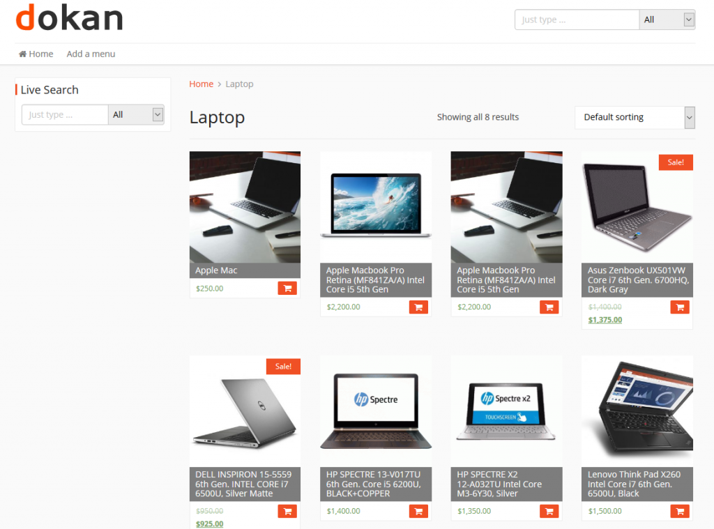 organize dokan store with product category