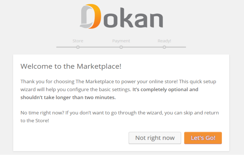 dokan multi-step wizard for seller