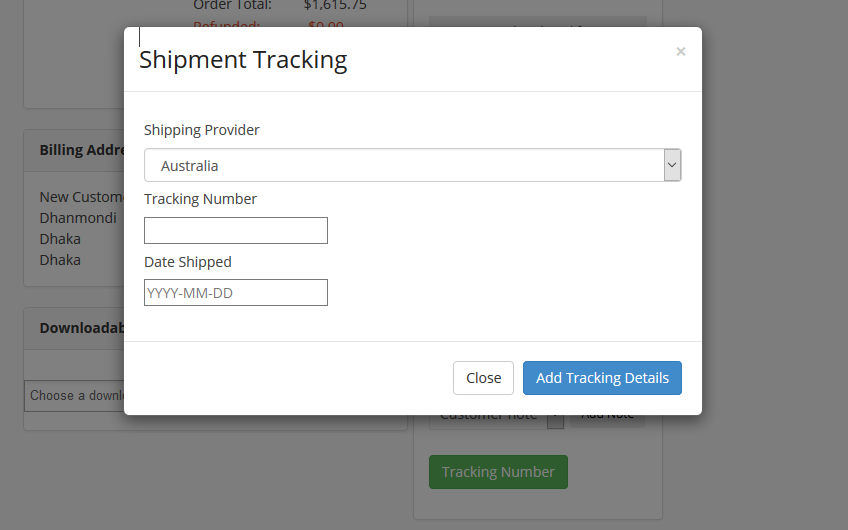 dokan shipment tracking system
