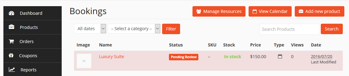 dokan-booking-vendor-dashboard Dokan WC Booking