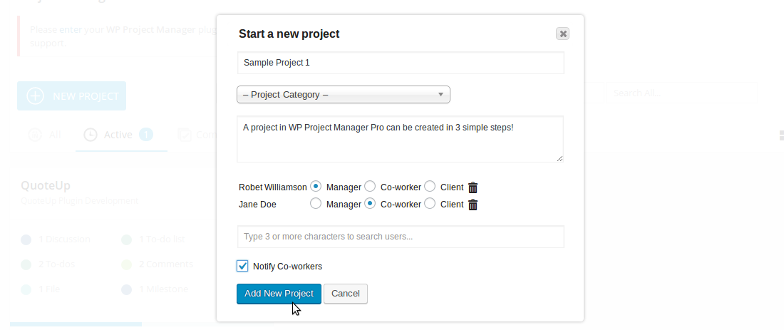 add new projects easily