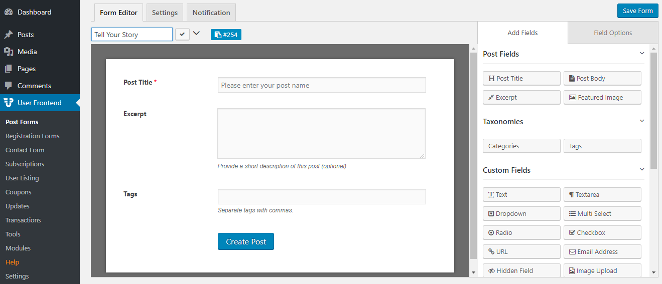 How To Take Guest Posts and Submissions from Frontend - weDevs