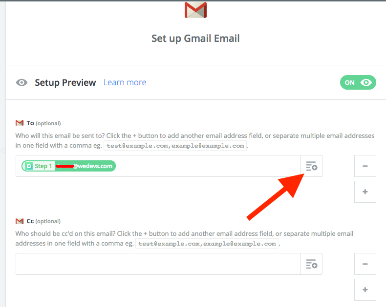 Gmail setup for Zapier