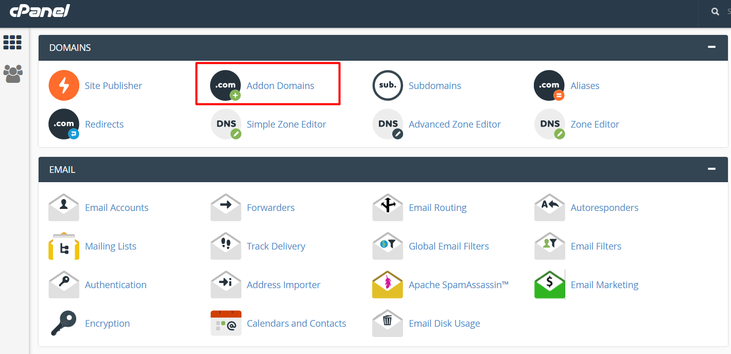 how to add multiple domains in cpanel
