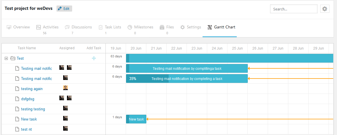 Gantt Chart Plugin for WordPress