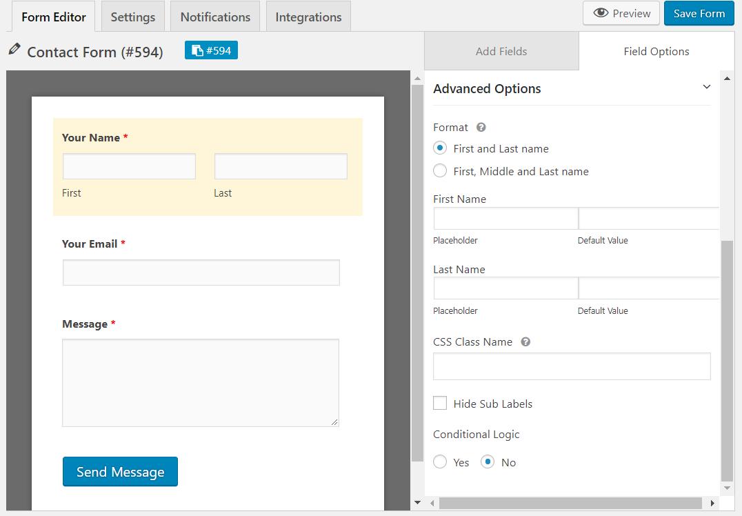 free contact form plugin wordpress