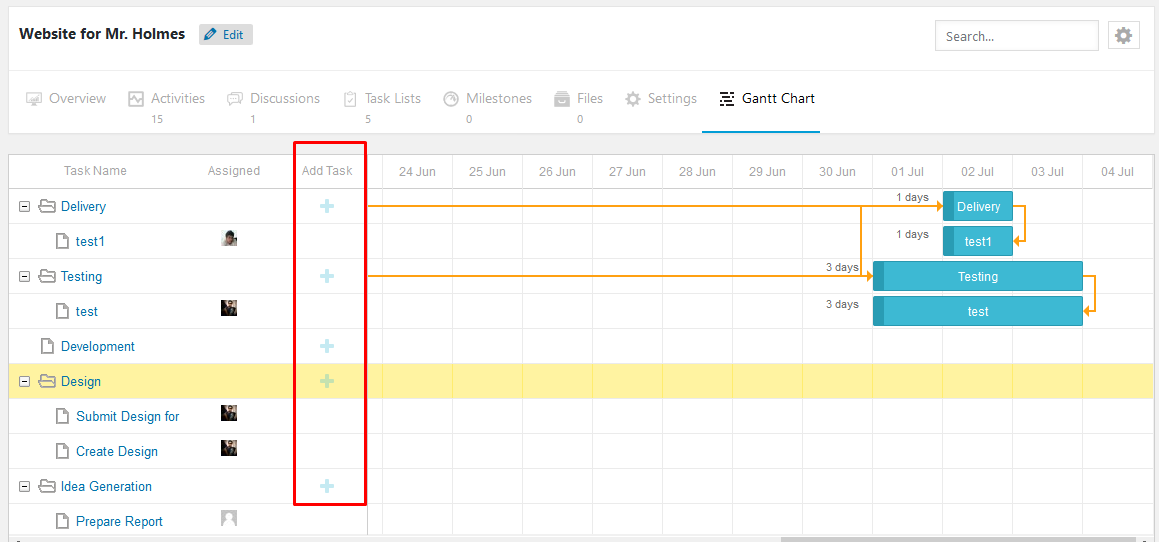WordPress Gantt Chart Plugin