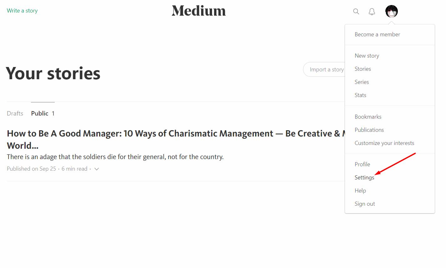 move from medium to wordpress meidum account