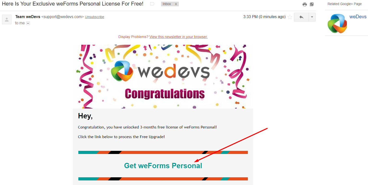 How to get weForms Pro Personal Package for FREE - weDevs