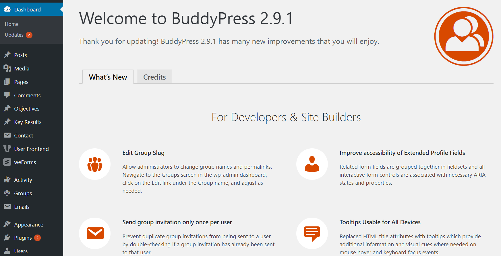 Social Networking Site Using BuddyPress
