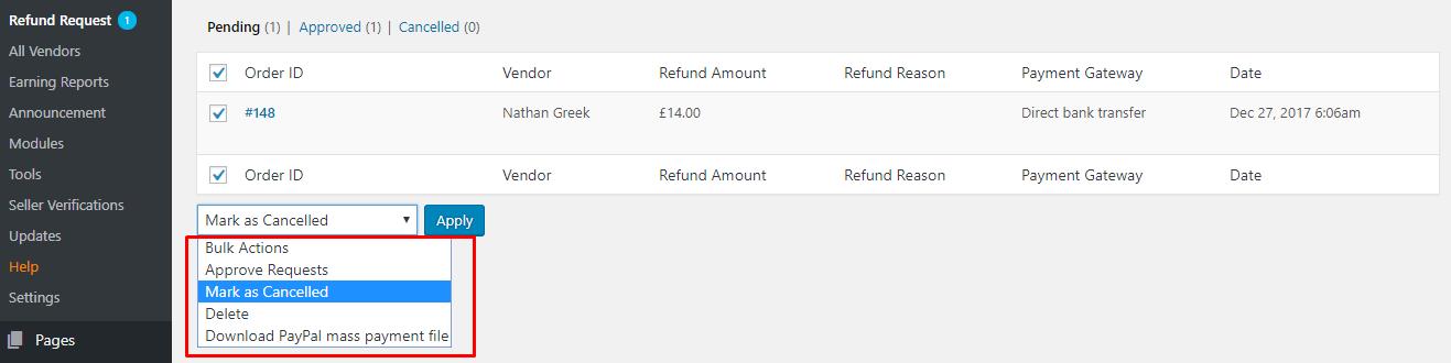 Refund Request - weDevs