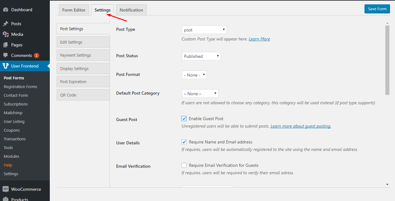 Setting Up Submission Confirmation Message