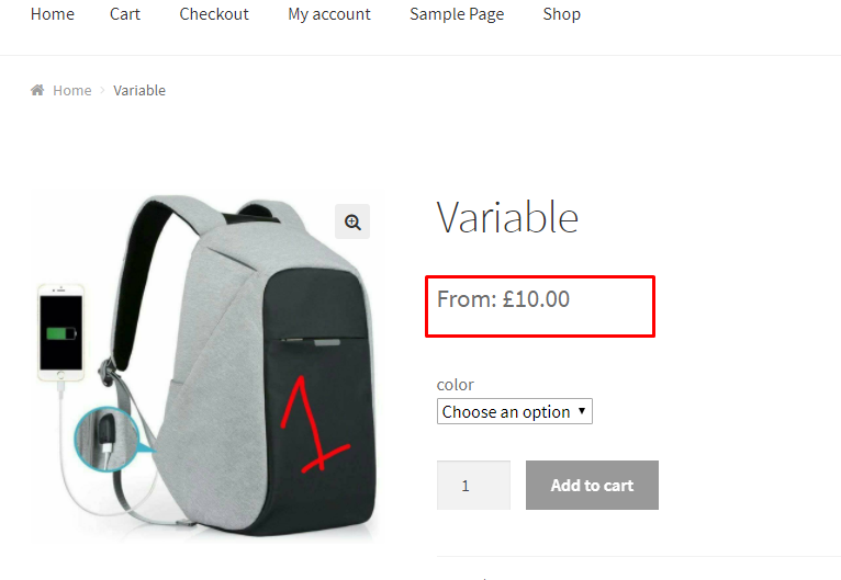Modified Price Range in WooCommerce