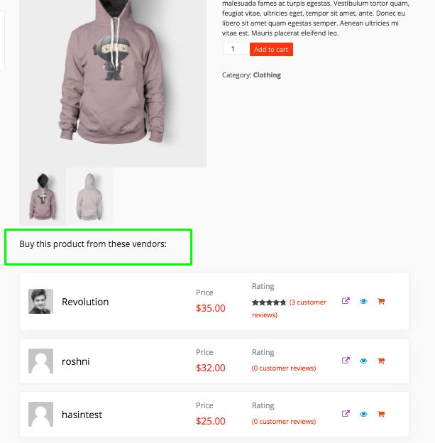 dokan single product multivendor vendor list button