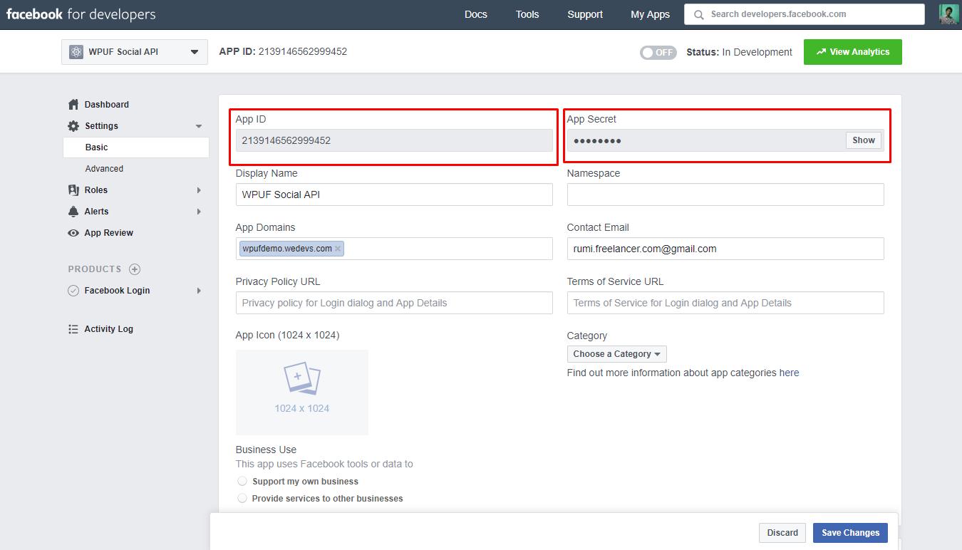 Configuring Facebook - weDevs