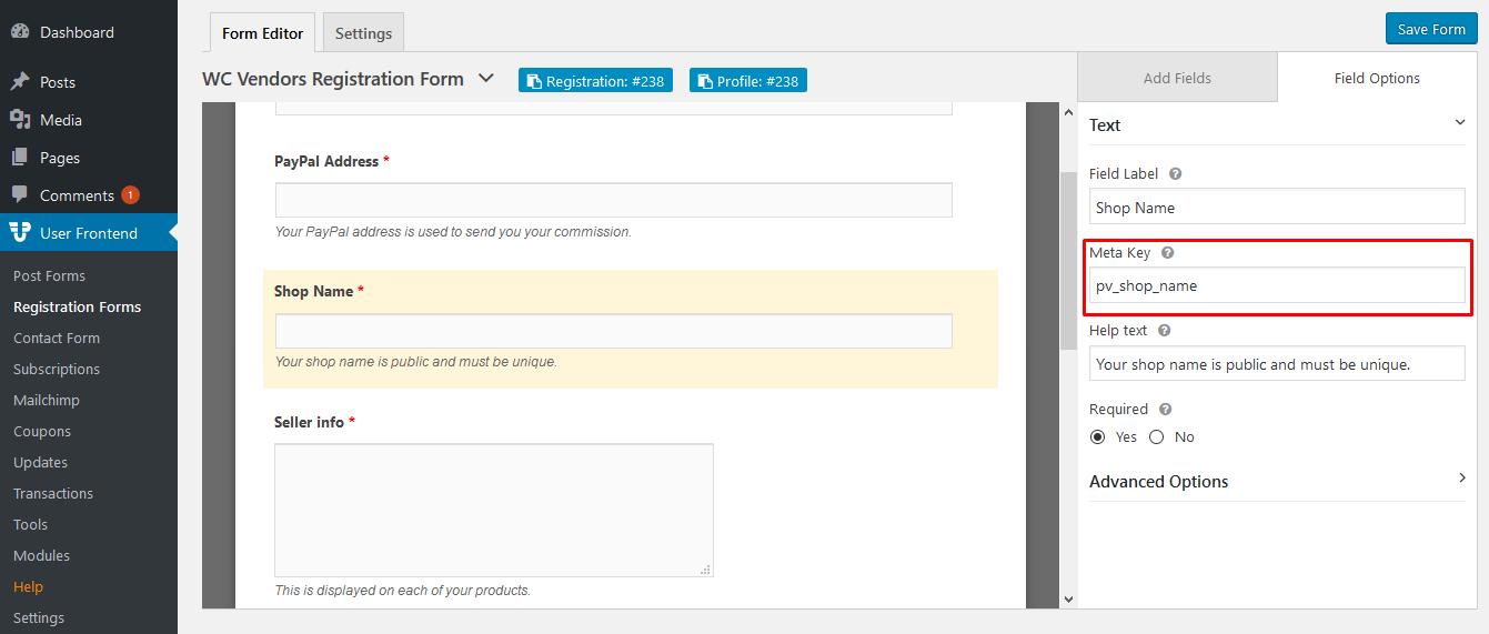 wc vendors registration template wedevs