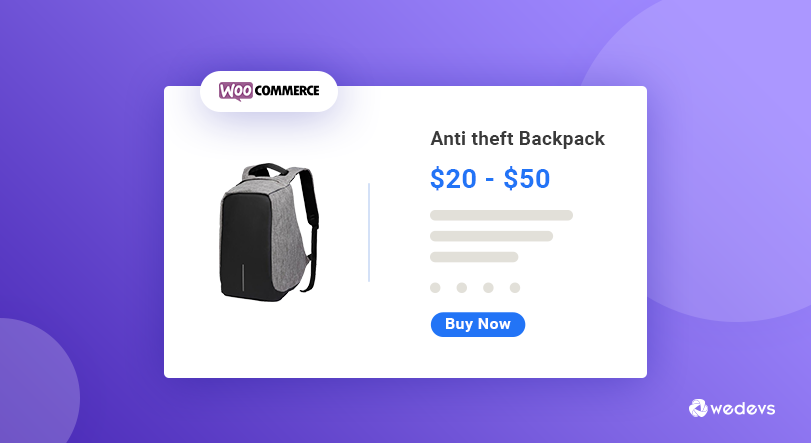 Variable Product Price WooCommerce