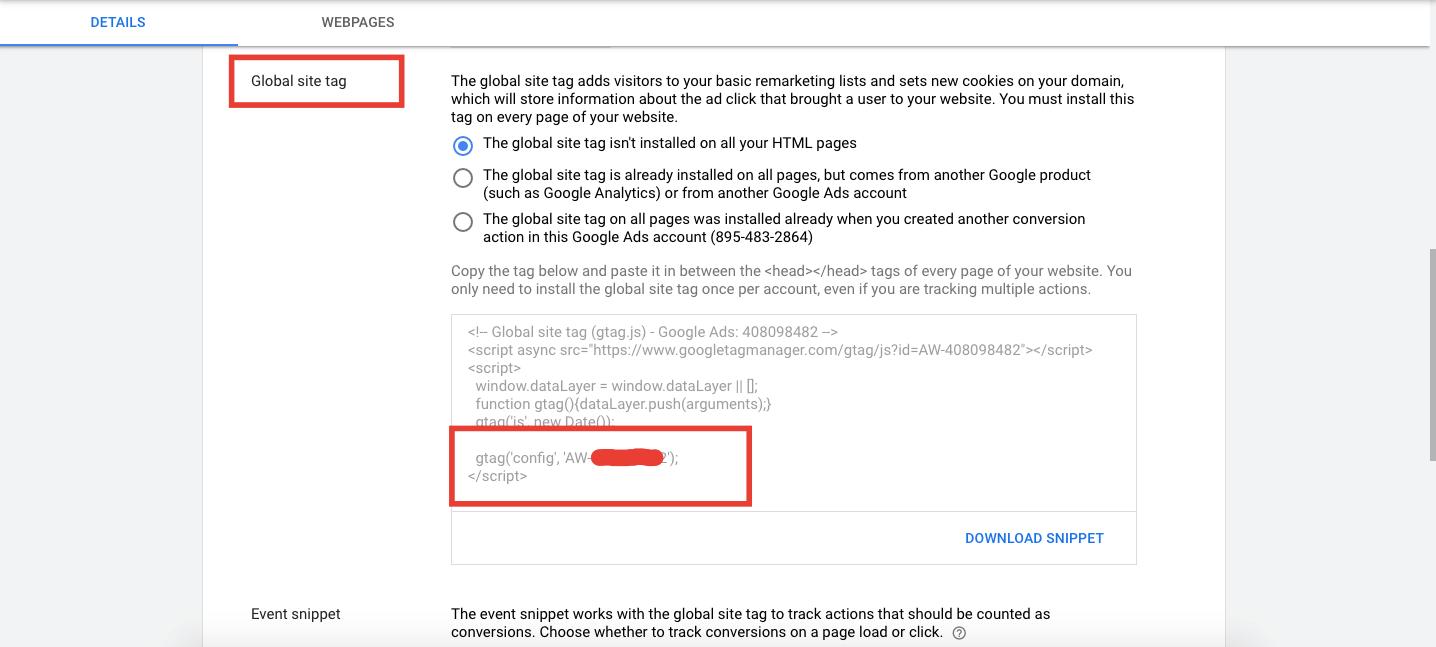 google tag id