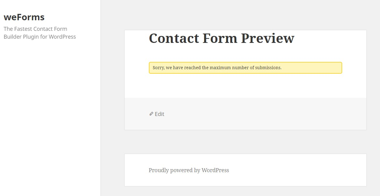 How to Set Up WordPress Form Expiration And Entry Limitation - weDevs