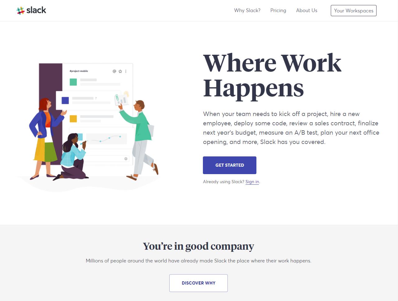 Slack for productivity hacks