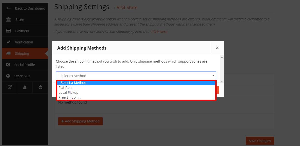 select method