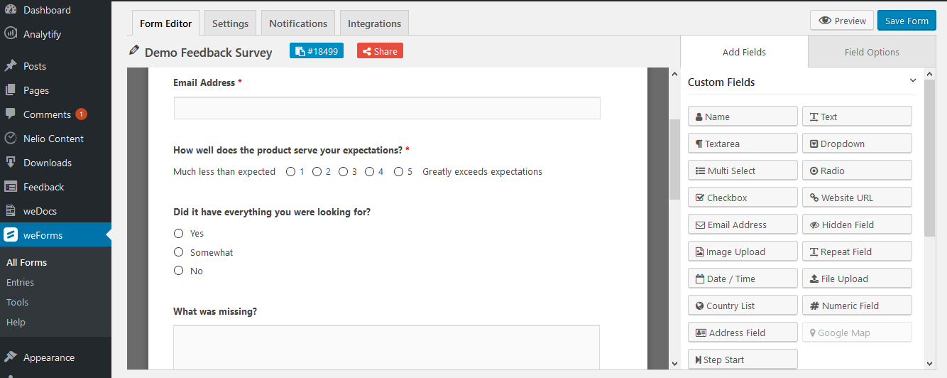 A Simple Feedback Form Plugin Is All You Need To Get Important Data