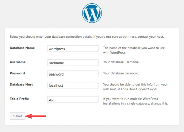 Manually connecting database with WordPress
