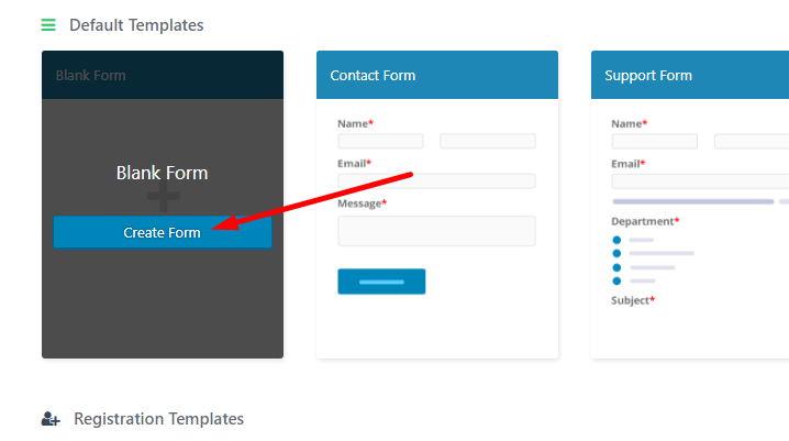 create web forms