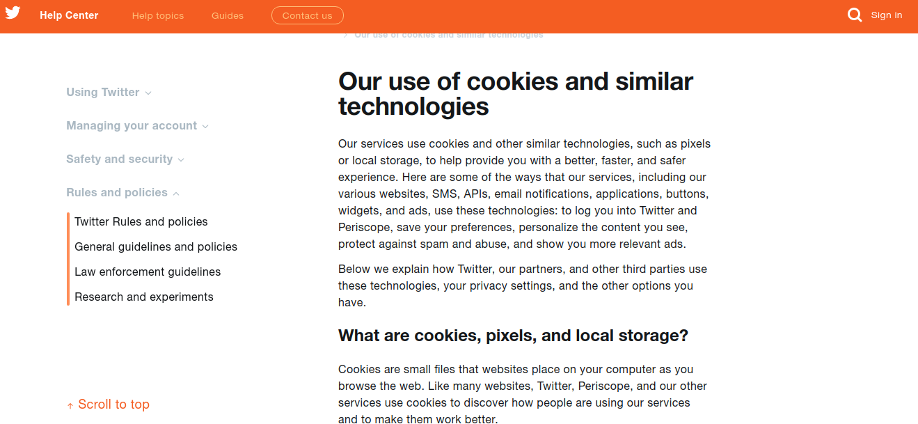 Cookies Policy Legal Page