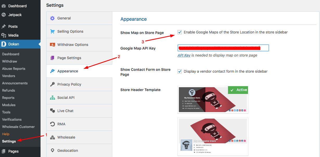 Google Maps Dokan Docs