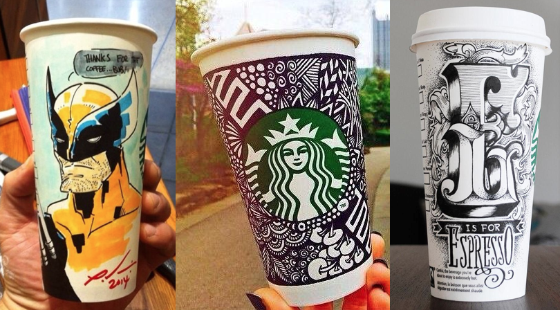 Starbucks White Cup Contes