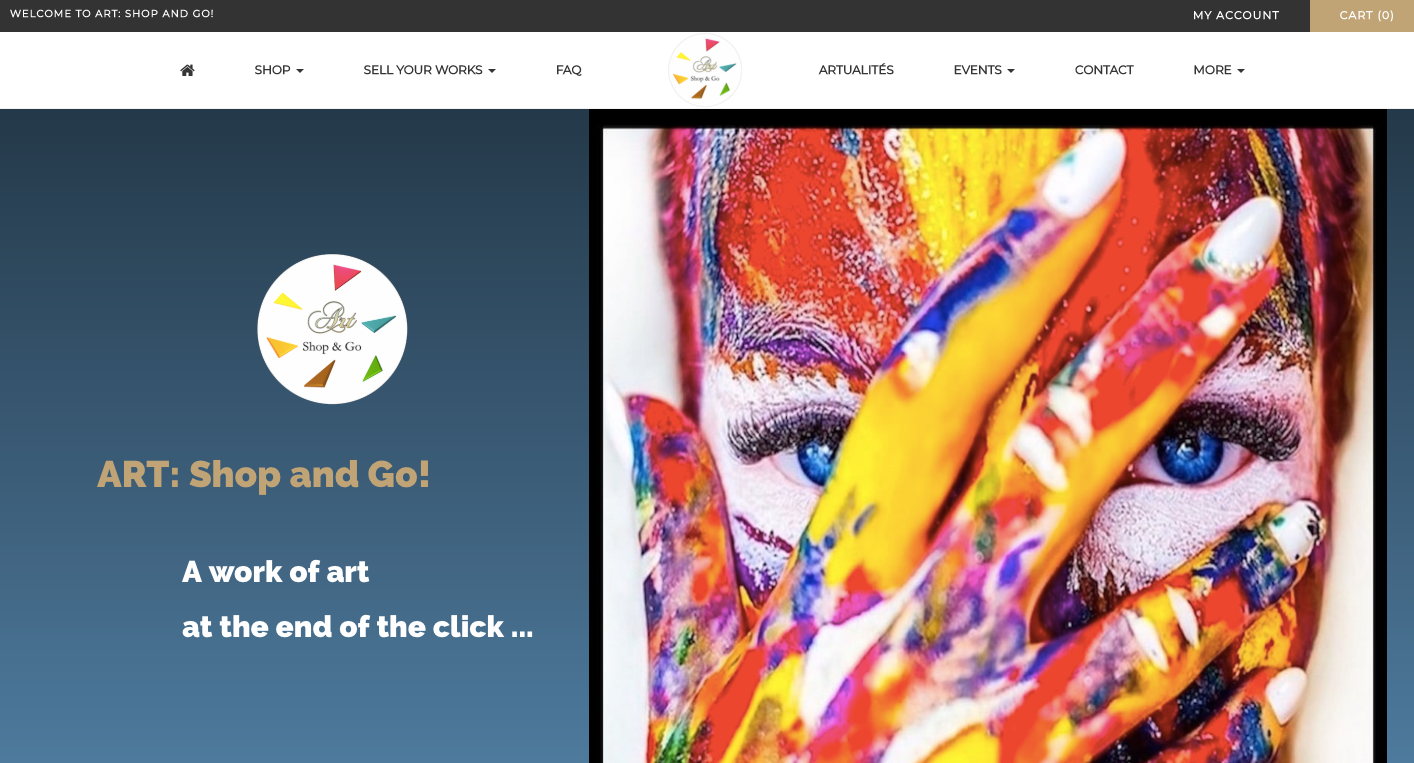 art shop homepage