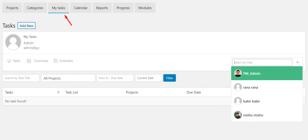 My Task-Project Manager frontend