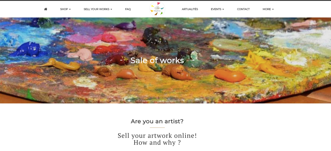 Art shop sell your work