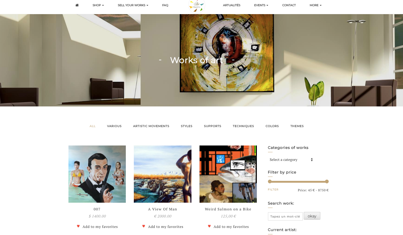 ArtWork Store Page