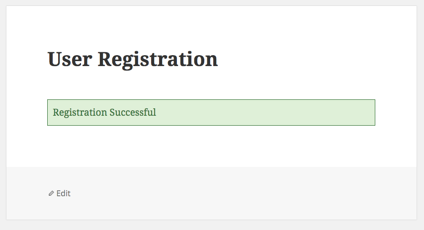 User Registration Success