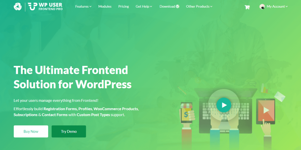WordPress User Frontend pro