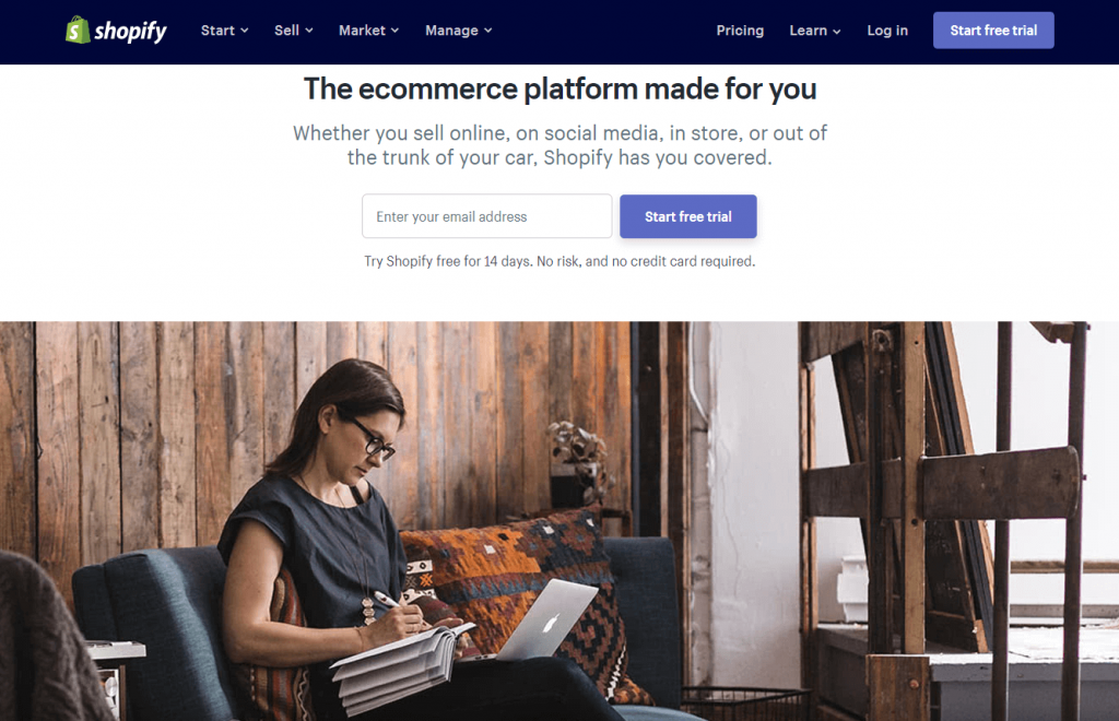Shopify- best e-commerce platform