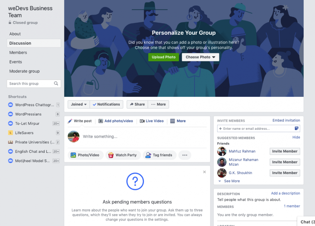 benefits of maintaining a facebook group for you business